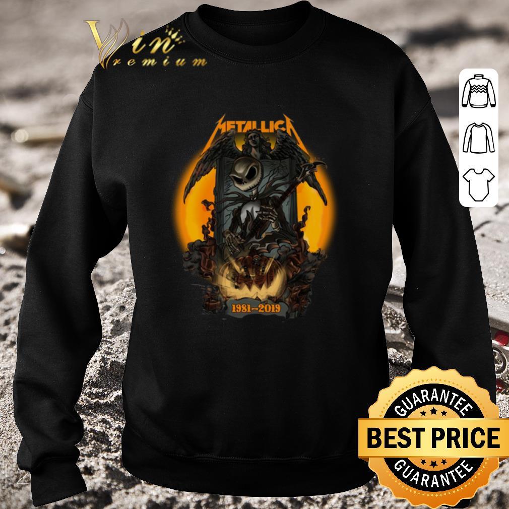 Awesome Jack Skellington Metallica 1981-2019 Halloween shirt