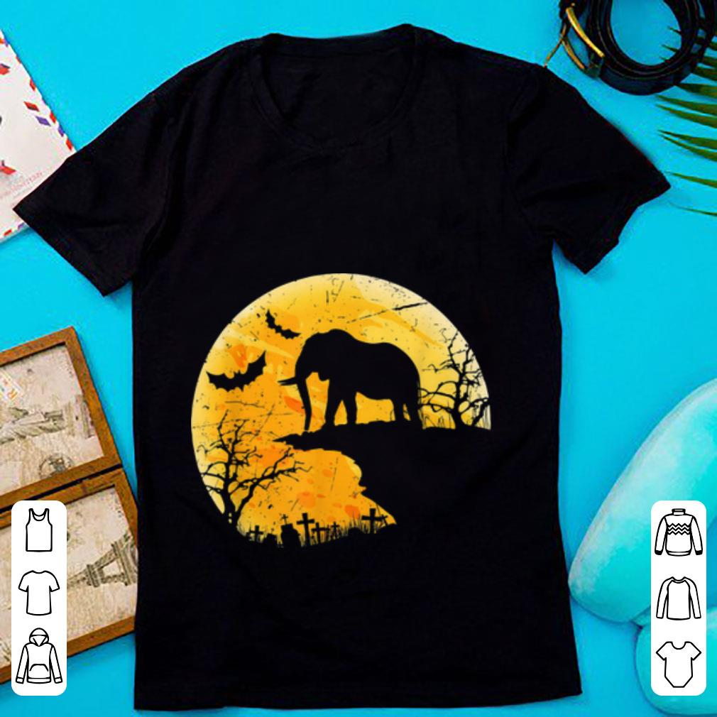 Beautiful Moon Halloween Elephant Funny Costume Gift For Animal Lover shirt