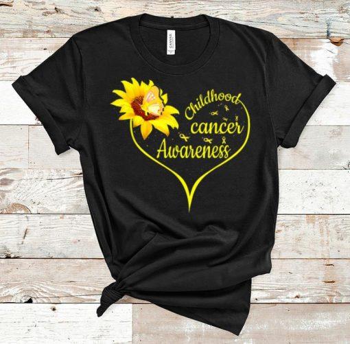 Hot Childhood Cancer Awareness Flower Butterfly Gold Ribbon shirt 1 1 510x501 - Hot Childhood Cancer Awareness Flower Butterfly Gold Ribbon shirt