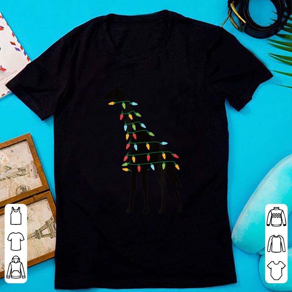 Hot Christmas Lights Giraffe shirt