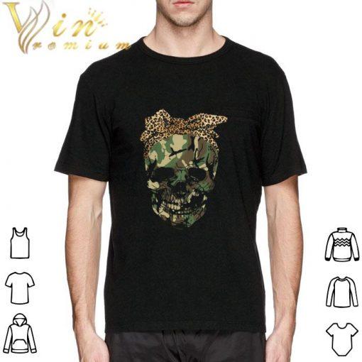 Hot Veteran skull wearing bandana leopard shirt 2 1 510x510 - Hot Veteran skull wearing bandana leopard shirt