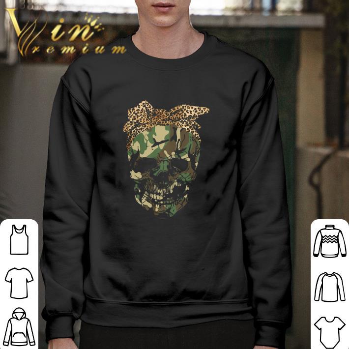 Hot Veteran skull wearing bandana leopard shirt