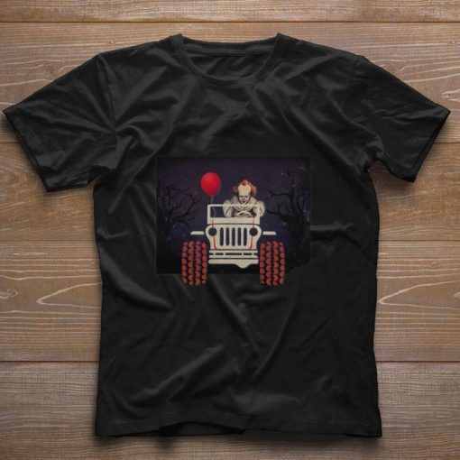 Jeep and Pennywise IT Halloween shirt 1 1 510x510 - Jeep and Pennywise IT Halloween shirt