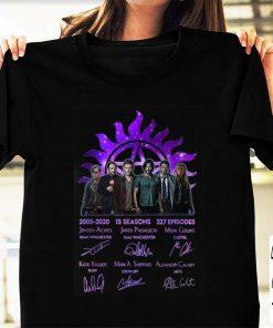 Nice 15 Years Of Supernatural 15 Seasons 327 Episodes Signature shirt 1 2 1 247x296 - Nice 15 Years Of Supernatural 15 Seasons 327 Episodes Signature shirt