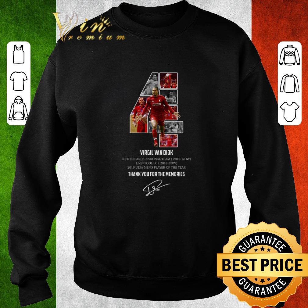 Nice 4 Virgil Van Dijk Liverpool thank you for the memories signature shirt