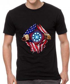 Nice American flag Iron Man Arc Reactor shirt 2 1 247x296 - Nice American flag Iron Man Arc Reactor shirt