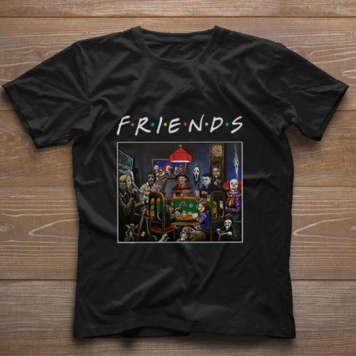 Nice Friends Horror movie characters playing card shirt 1 1 510x510 - Nice Friends Horror movie characters playing card shirt