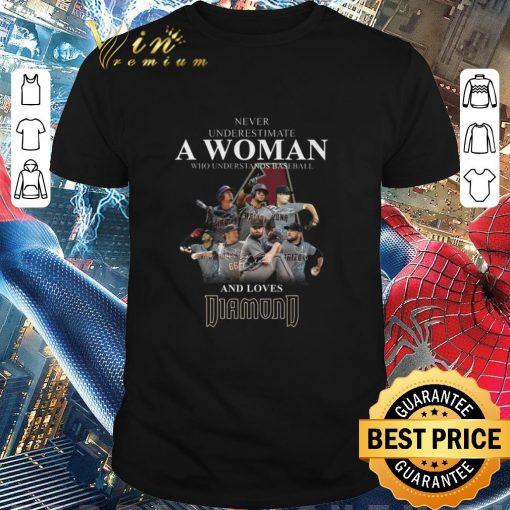 Nice Never underestimate a woman baseball loves Arizona Diamondbacks shirt 1 1 510x510 - Nice Never underestimate a woman baseball loves Arizona Diamondbacks shirt