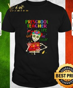 Nice Skull Preschool teacher life got me feelin un poco loco shirt 1 1 247x296 - Nice Skull Preschool teacher life got me feelin' un poco loco shirt