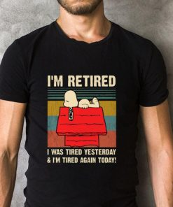 Nice Snoopy i m retired i was tired yesterday i m tired again today shirt 2 1 247x296 - Nice Snoopy i'm retired i was tired yesterday & i'm tired again today shirt