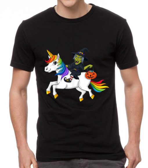 Nice Witch Riding Rainbow Unicorn Halloween shirt 2 1 510x578 - Nice Witch Riding Rainbow Unicorn Halloween shirt