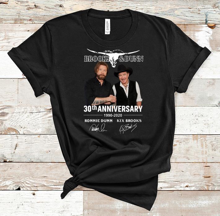 Official Brooks & Dunn 30th Anniversary 1990-2020 Ronnie Dunn Signatures shirt