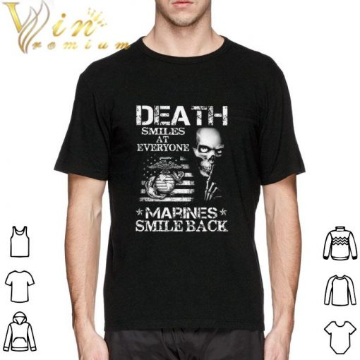 Official Death smiles at everyone Marines smile back shirt 2 1 510x510 - Official Death smiles at everyone Marines smile back shirt