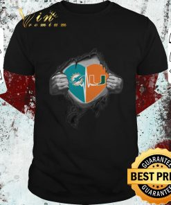 Official Miami Dolphins Miami Hurricanes inside my heart shirt 1 1 247x296 - Official Miami Dolphins Miami Hurricanes inside my heart shirt
