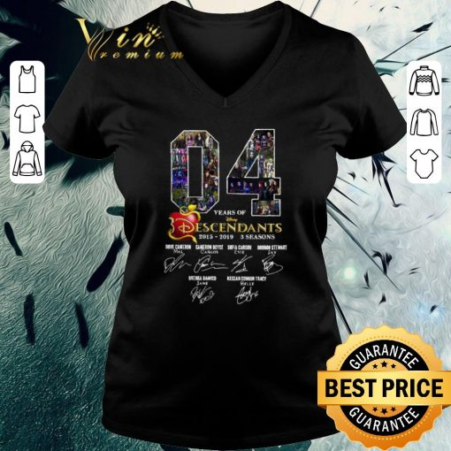 Original 04 Years of Descendants 2015 2019 3 seasons signatures shirt 3 1 510x510 - Original 04 Years of Descendants 2015-2019 3 seasons signatures shirt