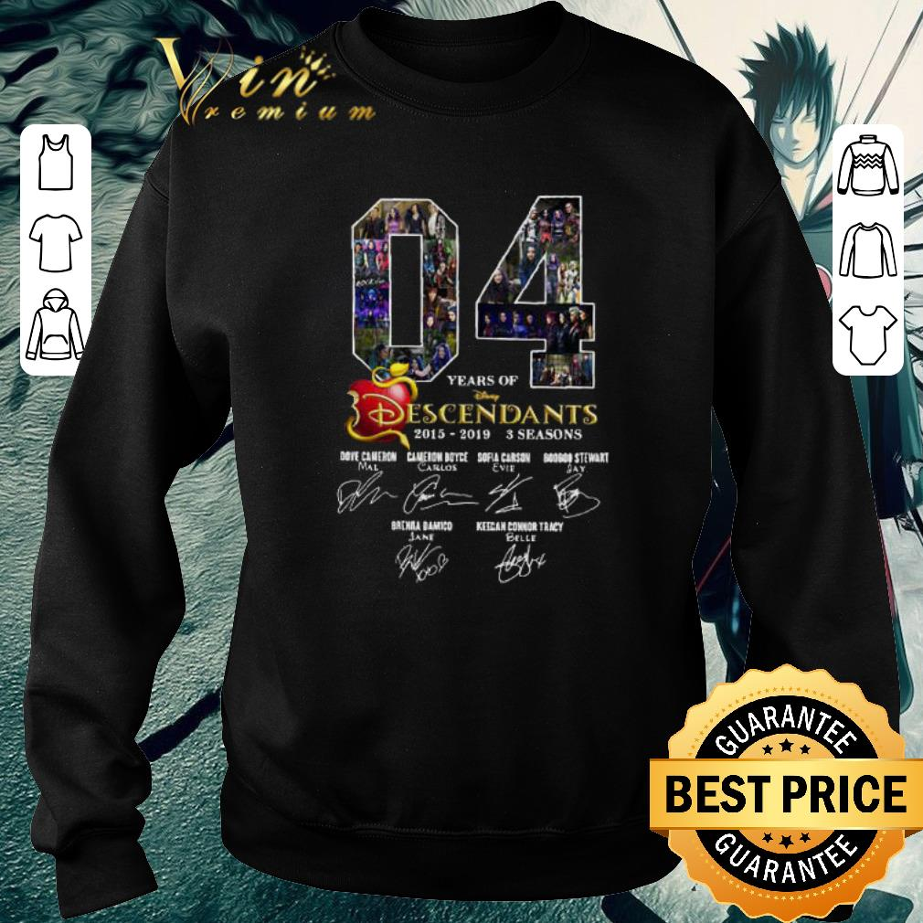 Original 04 Years of Descendants 2015-2019 3 seasons signatures shirt