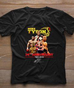 Original Mike Tyson 34th anniversary 1985 2019 signature shirt 1 1 247x296 - Original Mike Tyson 34th anniversary 1985-2019 signature shirt