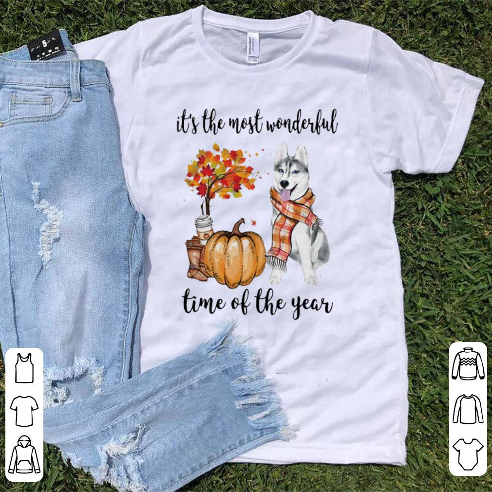 Premium Husky It's The Most Wonderful Time Of The Year Halloween shirt