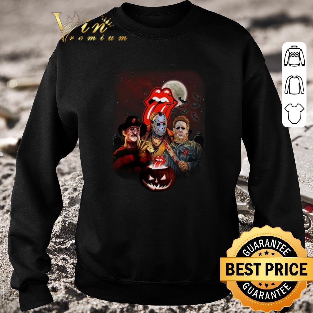Premium The Rolling Stones horror film characters pumpkin Halloween shirt