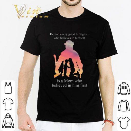 Pretty Behind every great firefighter who believes in himself is a mom shirt 2 1 510x510 - Pretty Behind every great firefighter who believes in himself is a mom shirt
