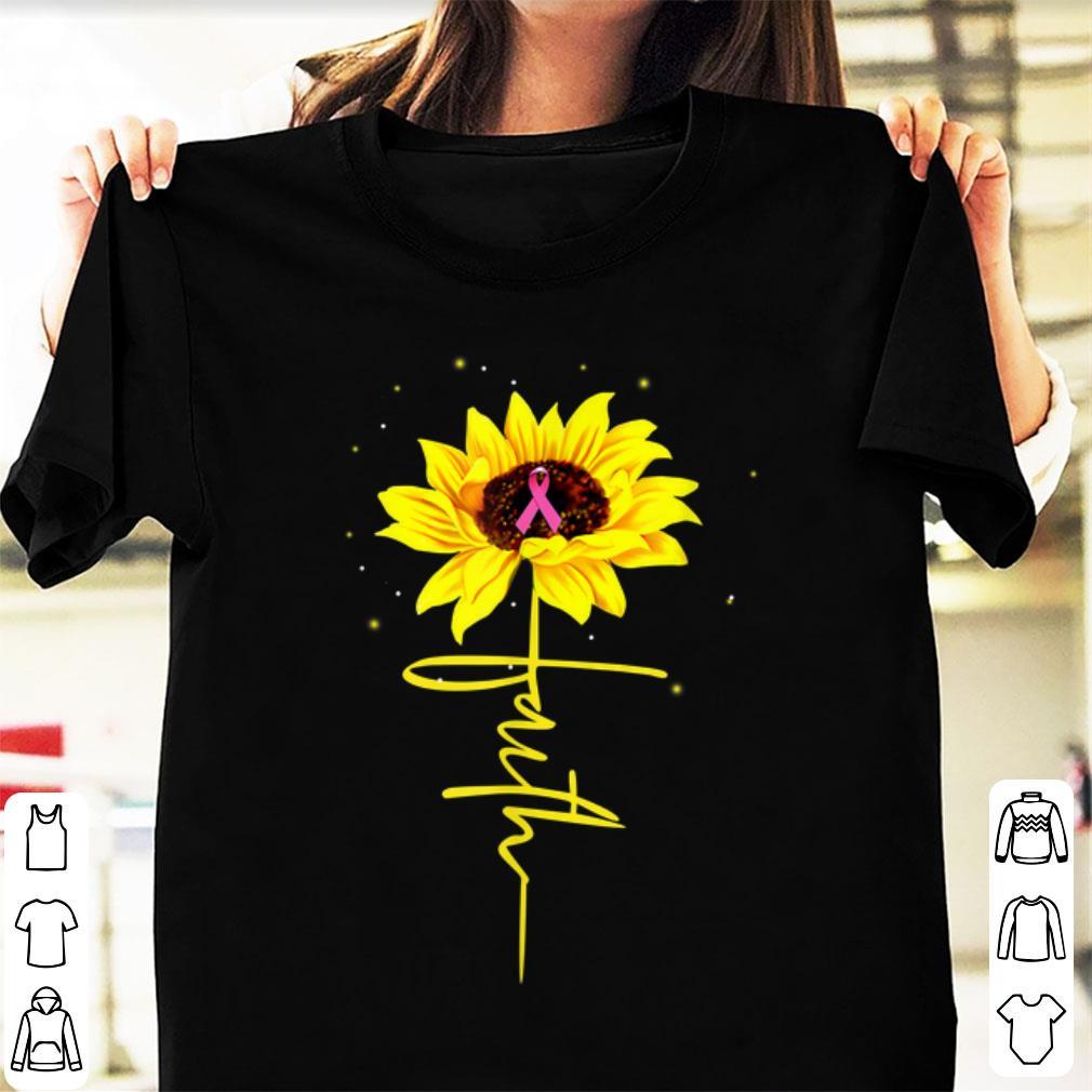 Pretty Breast Cancer Awareness Faith Sunflower shirt