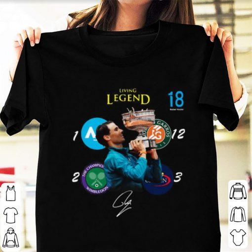 Pretty Living Legend 18 Grand Slam Rafael Nadal Signature shirt 1 1 510x510 - Pretty Living Legend 18 Grand Slam Rafael Nadal Signature shirt