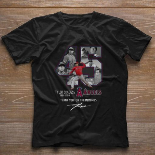 Pretty Los Angeles Angels 45 Tyler Skaggs Thank You For The Memories shirt 1 1 510x510 - Pretty Los Angeles Angels 45 Tyler Skaggs Thank You For The Memories shirt