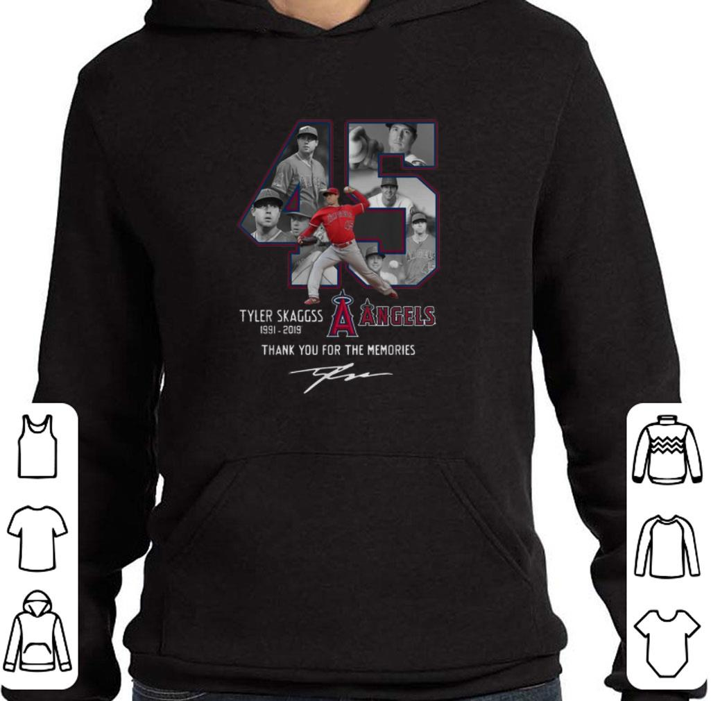 Pretty Los Angeles Angels 45 Tyler Skaggs Thank You For The Memories shirt