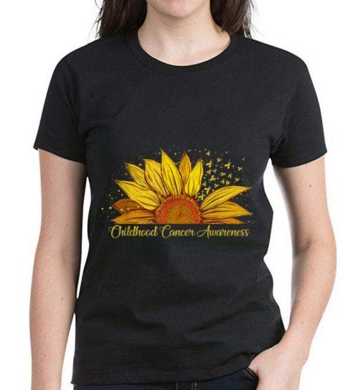 Pretty Sunflower Ribbon Childhood Cancer Awareness shirt 3 1 510x556 - Pretty Sunflower Ribbon Childhood Cancer Awareness shirt