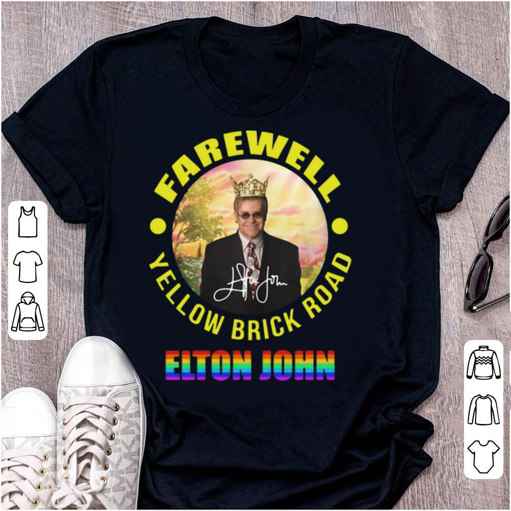 Top Elton John Farewell Yellow Brick Road Signature LGBT shirt