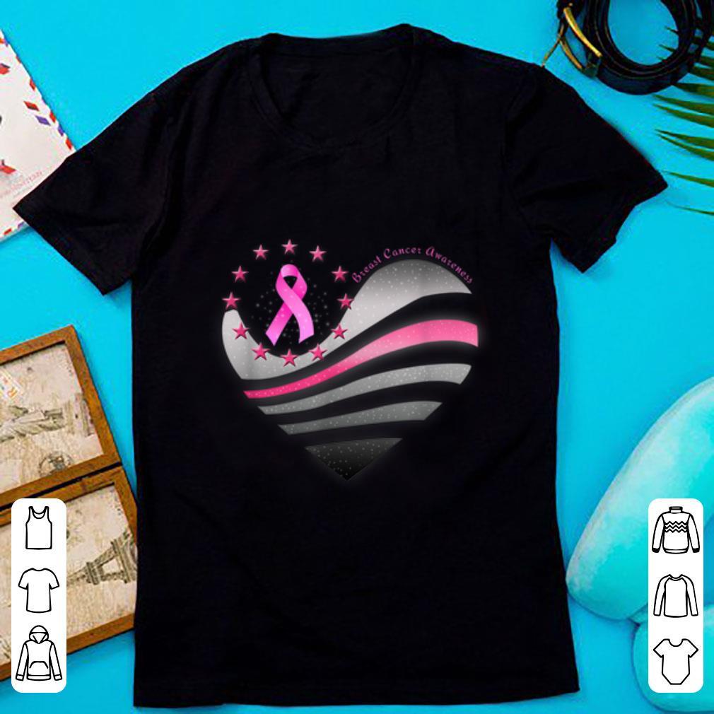 Top Heart Ribbon Breast Cancer Awareness shirt