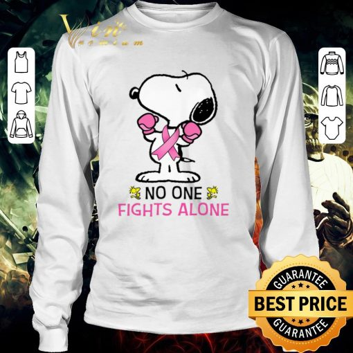 Top Snoopy no one fights alone Breast Cancer Awareness shirt 3 1 510x510 - Top Snoopy no one fights alone Breast Cancer Awareness shirt
