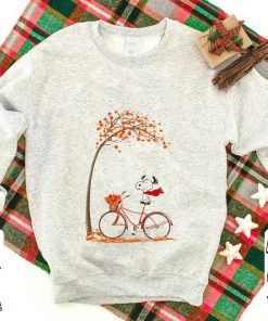 Top Snoopy riding bicycle autumn leaf tree shirt 1 1 247x296 - Top Snoopy riding bicycle autumn leaf tree shirt
