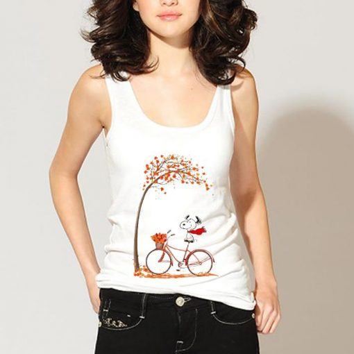Top Snoopy riding bicycle autumn leaf tree shirt 3 1 510x510 - Top Snoopy riding bicycle autumn leaf tree shirt