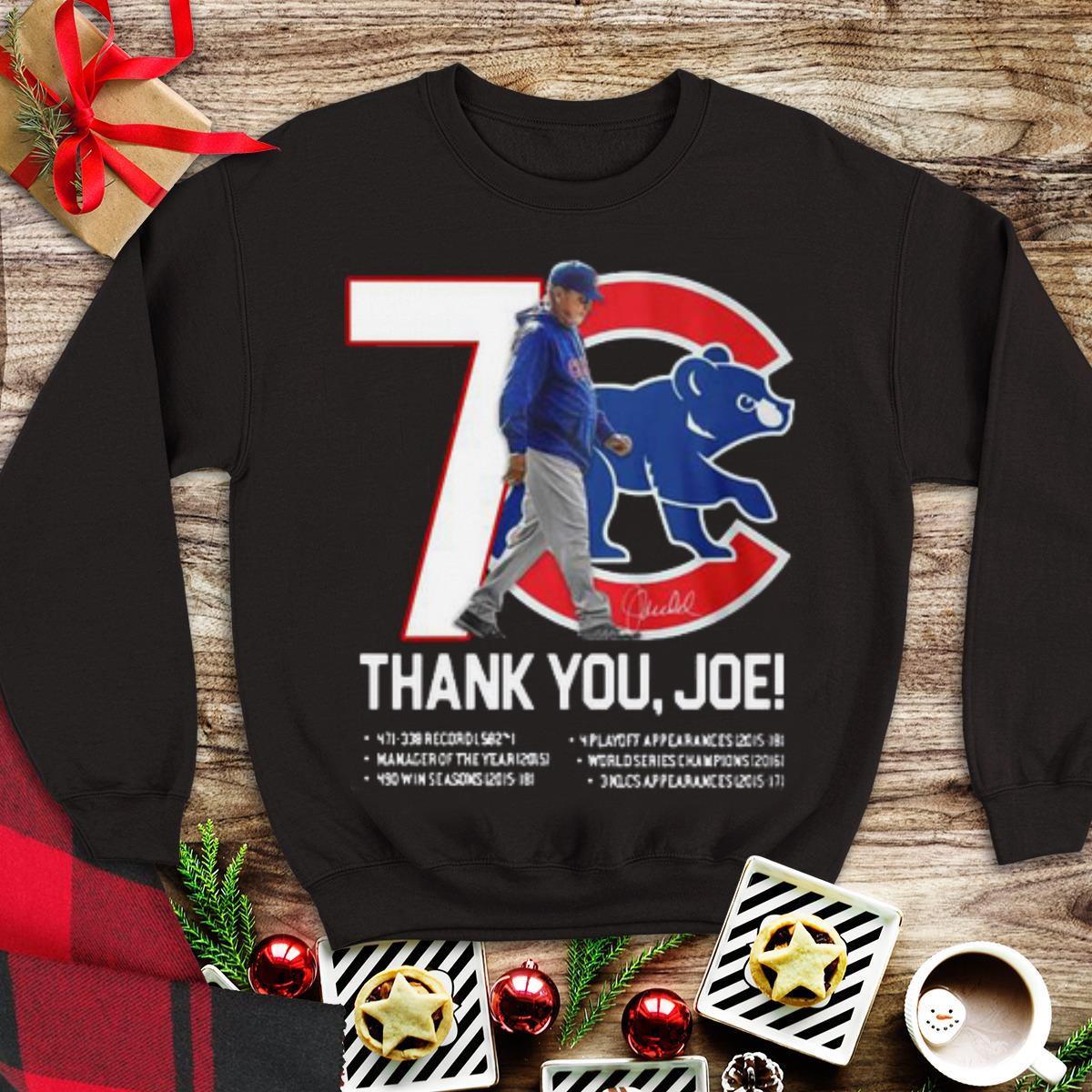 Awesome 7 Chicago Cubs Thank You Joe Maddon Rumors shirt