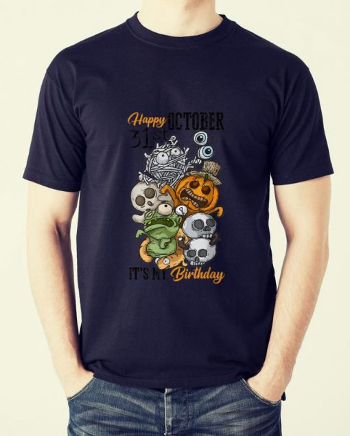 Awesome Happy October 31st It s My Birthday Funny Halloween Bday shirt 2 1 510x634 - Awesome Happy October 31st It's My Birthday Funny Halloween & Bday shirt