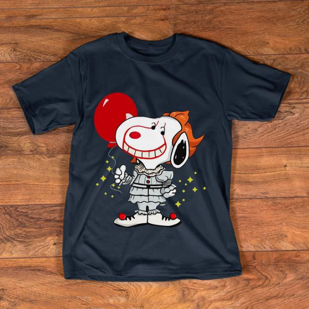 Awesome Snoopy Pennywise IT Balloon Stephen King shirt
