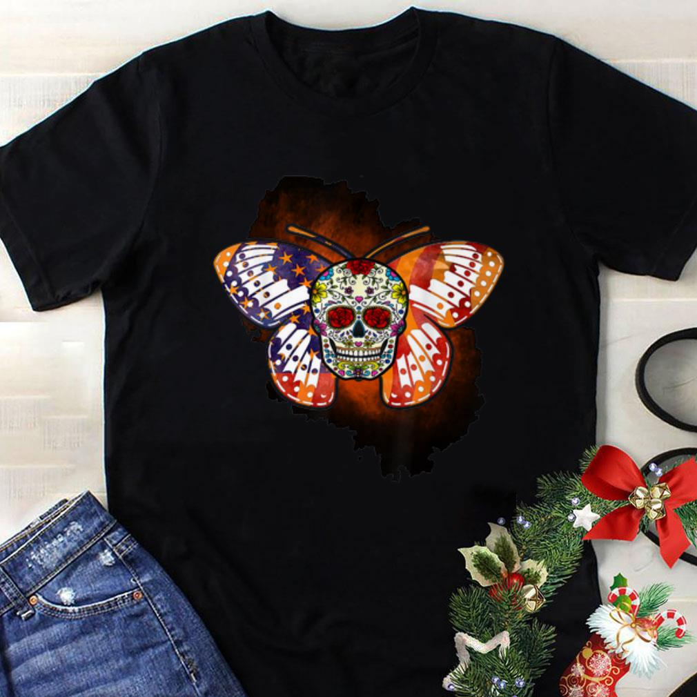 Awesome Sugar Skull Butterfly Day Of The Death Multiple Sclerosis shirt