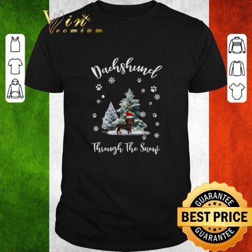 Funny Dachshund through the snow Christmas shirt 1 1 510x510 - Funny Dachshund through the snow Christmas shirt