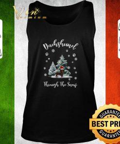 Funny Dachshund through the snow Christmas shirt 2 1 247x296 - Funny Dachshund through the snow Christmas shirt