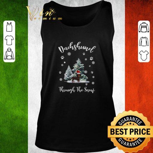 Funny Dachshund through the snow Christmas shirt 2 1 510x510 - Funny Dachshund through the snow Christmas shirt