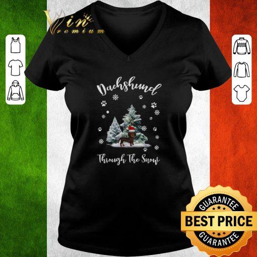 Funny Dachshund through the snow Christmas shirt 3 1 510x510 - Funny Dachshund through the snow Christmas shirt
