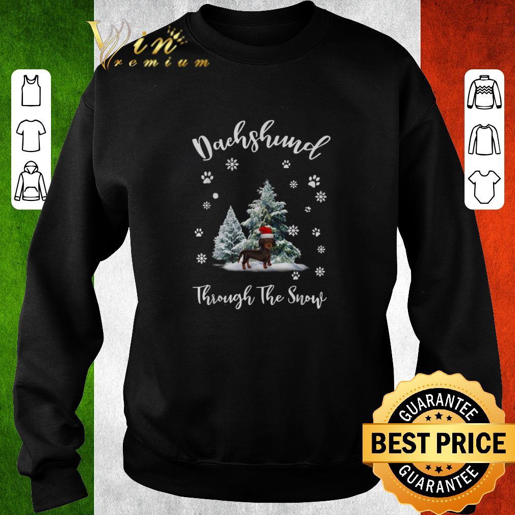 Funny Dachshund through the snow Christmas shirt