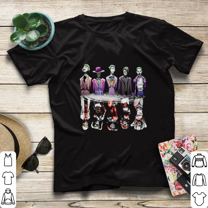 Funny Joker reflection mirror water Harley Quinn shirt