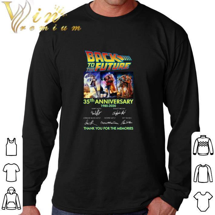 Hot Back to the future 35th anniversary 1985-2020 signatures shirt