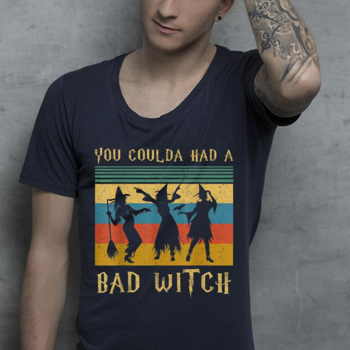 Hot Vintage Coulda Had A Bad Witch Halloween shirt
