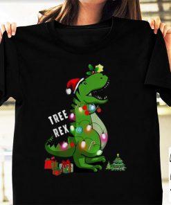 Nice Christmas Tree T rex Dinosaur shirt 1 1 247x296 - Nice Christmas Tree T-rex Dinosaur shirt