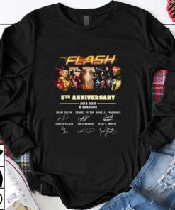 Official 5th Anniversary The Flash 2014 2019 6 Seasons signatures shirt 1 1 247x296 - Official 5th Anniversary The Flash 2014-2019 6 Seasons signatures shirt
