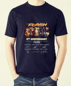 Official 5th Anniversary The Flash 2014 2019 6 Seasons signatures shirt 2 1 247x296 - Official 5th Anniversary The Flash 2014-2019 6 Seasons signatures shirt