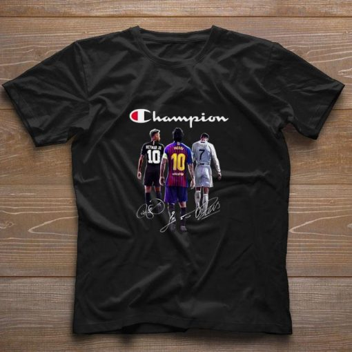 Official Champion Neymar Jr Lionel Messi Cristiano Ronaldo Signatures shirt 1 1 510x510 - Official Champion Neymar Jr Lionel Messi Cristiano Ronaldo Signatures shirt